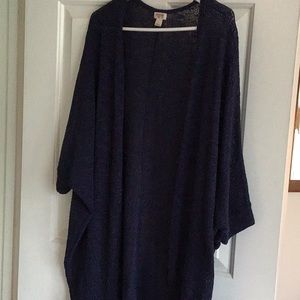 Cocoon open front cardigan, 3/4 sleeve